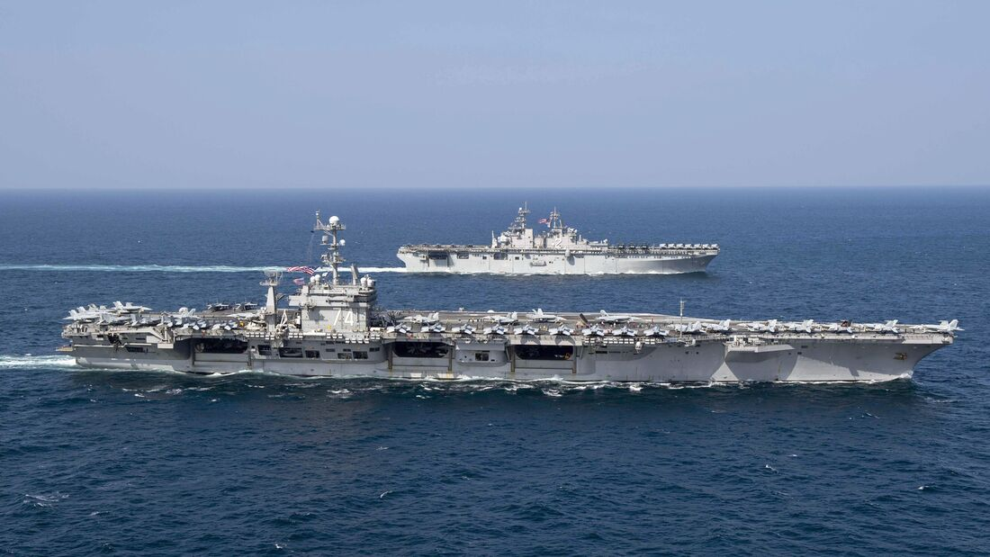 The John C. Stennis Strike Group, the Essex Amphibious Readiness Group and the 13th Marine Expeditionary Unit conduct integrated operations