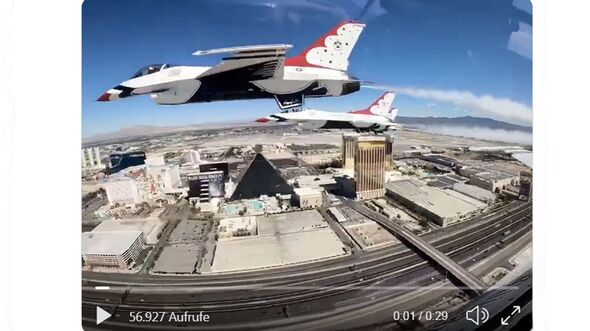 Thunderbirds über Las Vegas am 11. April 2020.