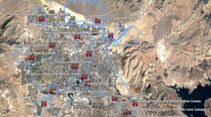 Thunderbirds über der Las Vegas am 11. April 2020.