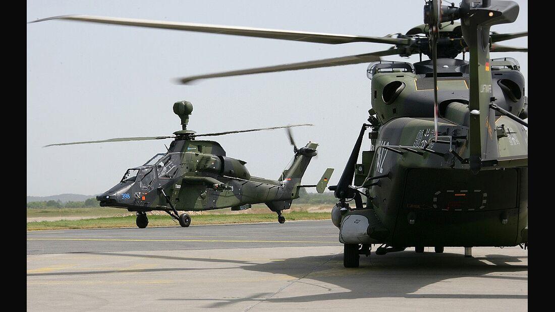 Tiger und NH90 der Heeresflieger.