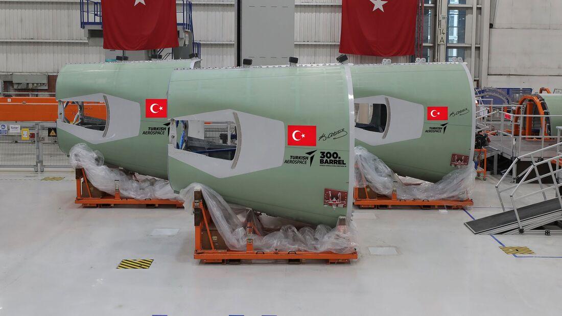 Turkish Aerospace baut die Rumpfsektion 19 für die A320-Familie.