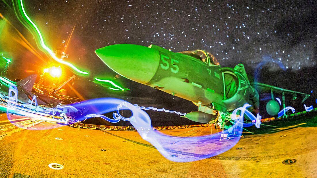 USS Boxer Night Flight Operations