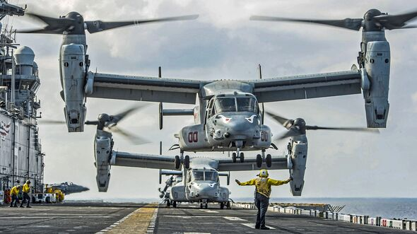 USS MAKIN ISLAND FLIGHT OPS