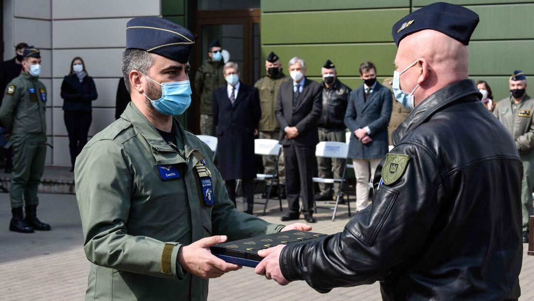 Übergabe des Baltic Air Policing in Siauliai Ende April 2021.