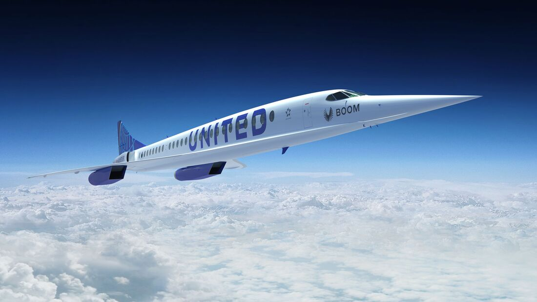 United will 15 Overture von Boom kaufen und ab 2029 einsetzen.
