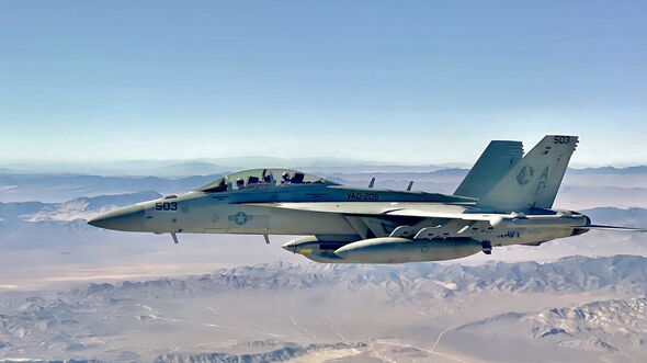 VAQ 209 EA-18G returns from a mission
