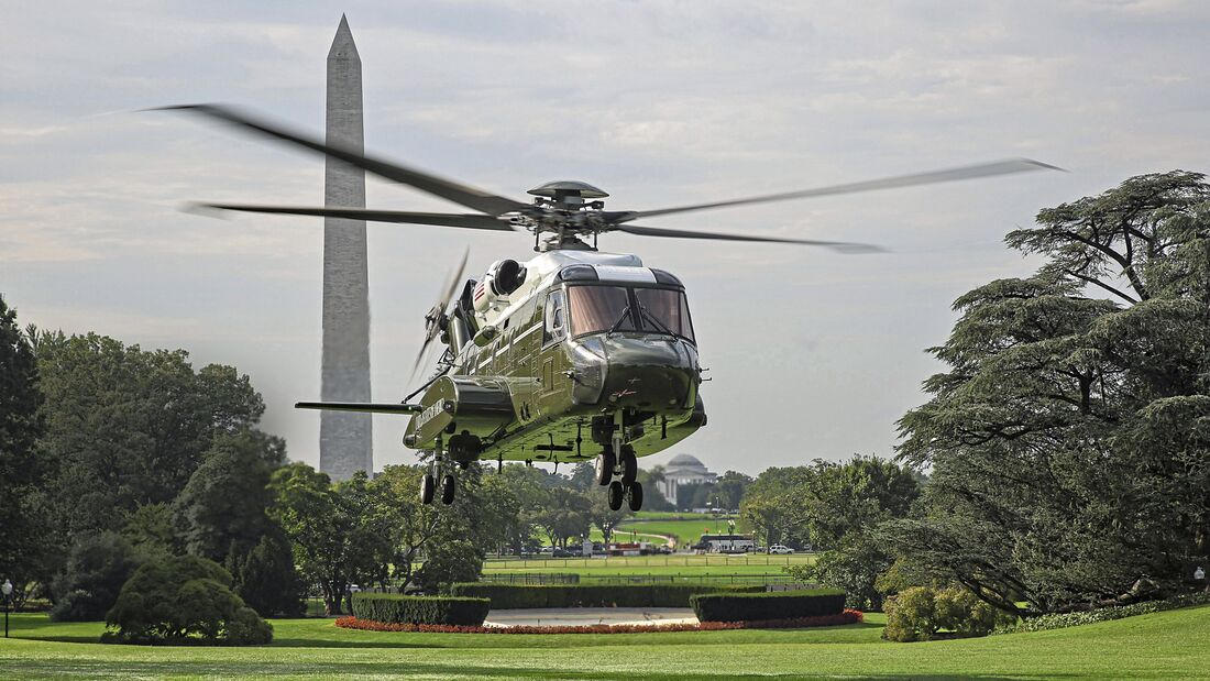 VH-92A Tests Flight Over White House