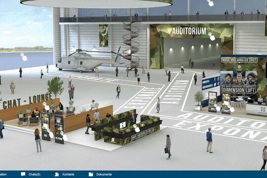 """Virtuelle Karrieremesse """"Dimension Luft"""" der Bundeswehr in Nordholz."""