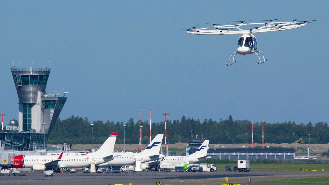 Volocopter 2X beim Flugtest in Helsinki am 29. August 2019