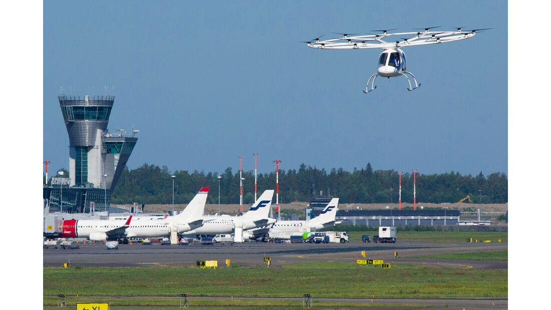 Volocopter 2X beim Flugtest in Helsinki am 29. August 2019