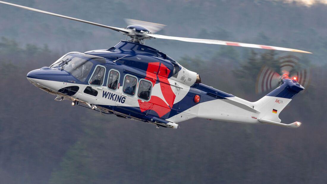Wiking hat nun vier Leonardo AW139 in der Flotte.