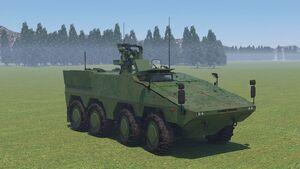 """Zum """"Protector""""-Drohnenabwehrsystem von Kongsberg auf dem Boxer gehört auch das Spexer 2000 3D-Radar von Hensoldt."""
