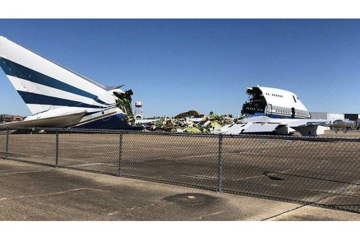 Las Vegas Sands: Bei Hurrikan beschädigte 747SP liegt nun in Trümmern